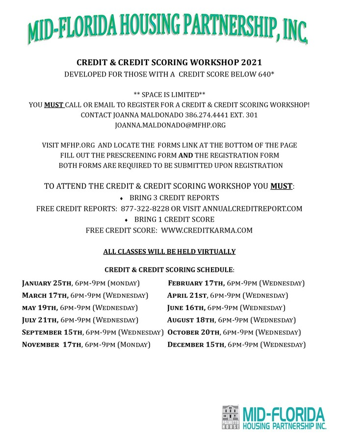 2021 Credit Workshops